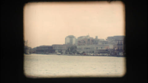 Vintage 8mm. Port of Brindisi Footage