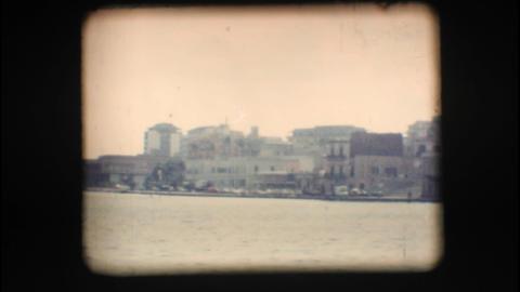 Vintage 8mm. Port of Brindisi Stock Video Footage