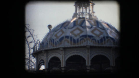 Vintage 8mm. Pavilion During County Fair stock footage