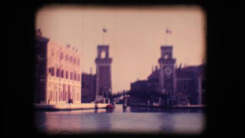 Vintage 8mm. Venetian Arsenal Stock Video Footage