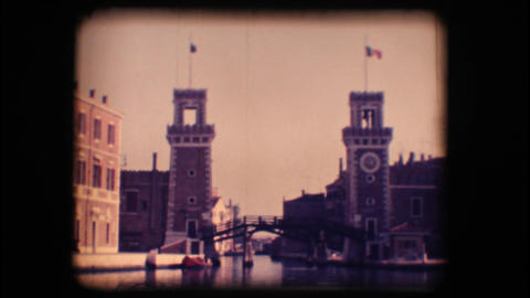 Vintage 8mm. Venetian Arsenal Footage