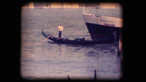 Vintage 8mm. Gondola in Venice Stock Video Footage