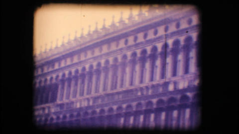Vintage 8mm. St. Mark's square in Venice Stock Video Footage