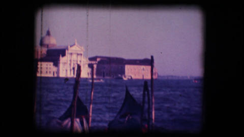 Vintage 8mm. Church of San Giorgio Maggiore, in Ve Stock Video Footage