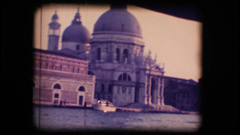 Vintage 8mm. Church in Venice Stock Video Footage