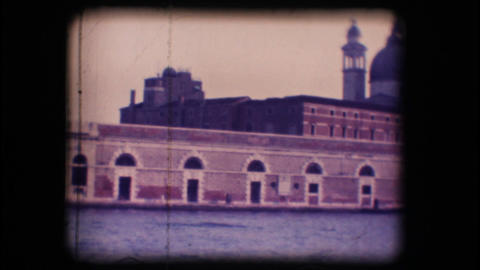 Vintage 8mm. Church in Venice Footage