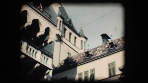 Vintage 8mm. Winter market in Bolzano Stock Video Footage