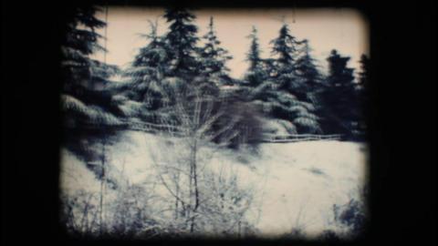 Vintage 8mm. Snowy street Footage