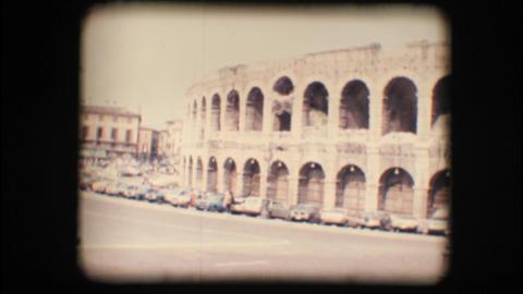 Vintage 8mm. Verona arena Stock Video Footage
