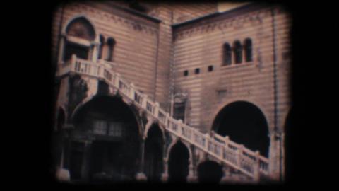 Vintage 8mm. Piazza dei signori Stock Video Footage