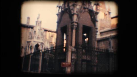 Vintage 8mm. Monument in Verona Footage