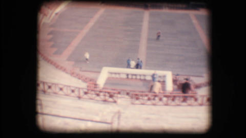 Vintage 8mm. Bench seating and stage in Verona are Stock Video Footage