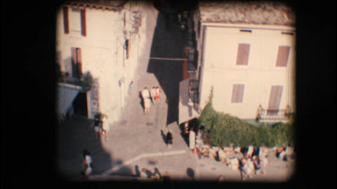 Vintage 8mm. Town of Sirmione and Lake Garda Stock Video Footage