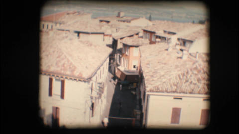 Vintage 8mm. Town of Sirmione and Lake Garda Footage