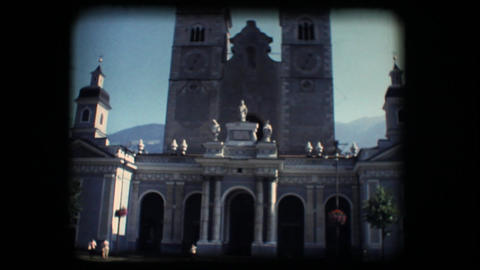 Vintage 8mm. Church in Brixen Stock Video Footage