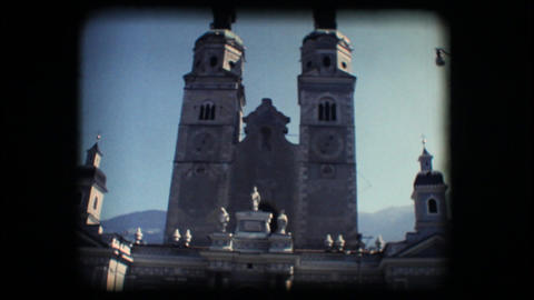 Vintage 8mm. Church in Brixen Footage
