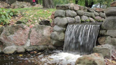 Cascade in the city park Stock Video Footage