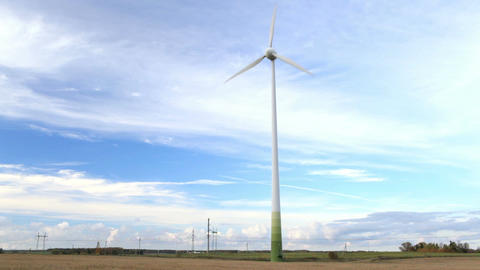Wind turbine in the field. version. version is also... Stock Video Footage