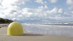 Buoy mooring. Baltic sea. Sunny day Stock Video Footage