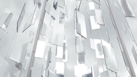 Detail of an art installation with mirrors in Riga, Latvia Stock Video Footage