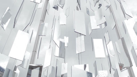 Detail Of An Art Installation With Mirrors In Riga, Latvia stock footage
