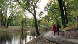 City park in the centre of Riga Stock Video Footage