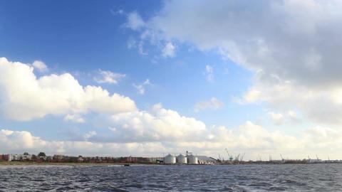 Baltic sea in Liepaja, Latvia Stock Video Footage