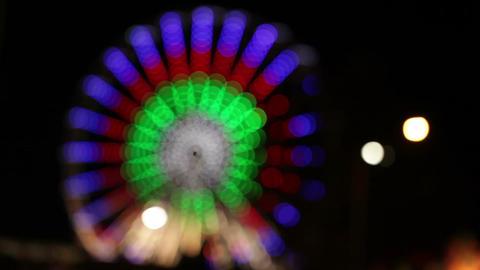 Park attraction in blur Footage