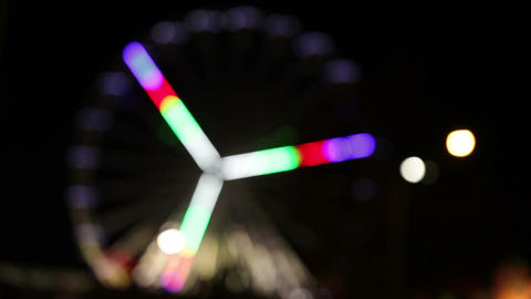Park attraction in blur Stock Video Footage
