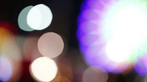 Abstract bokeh lights. Attraction park Stock Video Footage