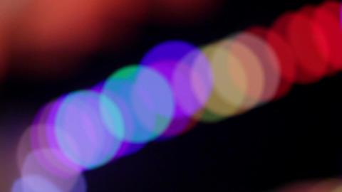 Abstract blink defocused lights. Pan shot Stock Video Footage
