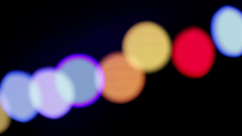Abstract blink defocused lights. Pan shot Footage