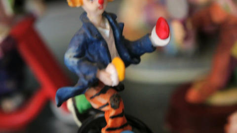Different shots of the clown statuettes in Akvamarine... Stock Video Footage