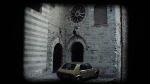 Vintage 8mm. Monastery in Assisi Stock Video Footage