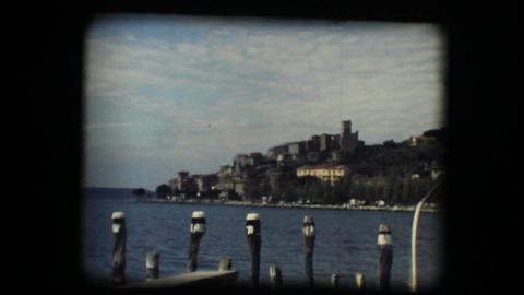 Vintage 8mm. View of medieval town Footage