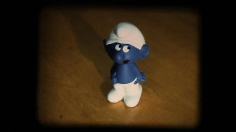 Vintage 8mm. Smurf Stock Video Footage