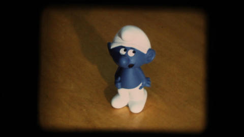 Vintage 8mm. Smurf Stock Video Footage