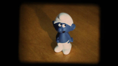 Vintage 8mm. Smurf stock footage
