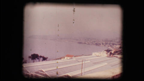 Vintage 8mm. View Of The Gulf Of San Remo stock footage