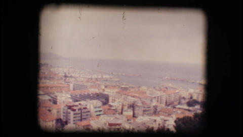 Vintage 8mm. View of small Italian town Stock Video Footage