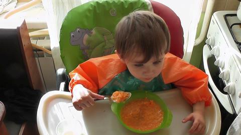 boy eats 02 Footage