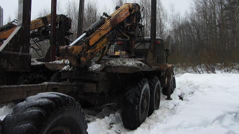 timber trucks Stock Video Footage
