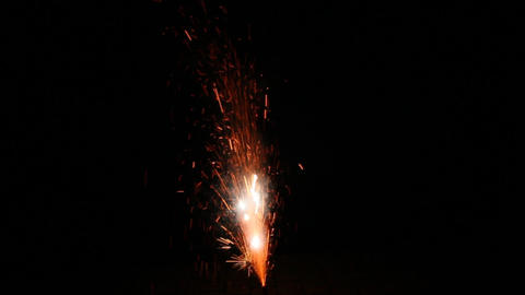 Fireworks Foutain 3 Stock Video Footage