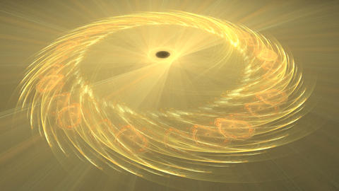 Golden Rings Rotating Stock Video Footage