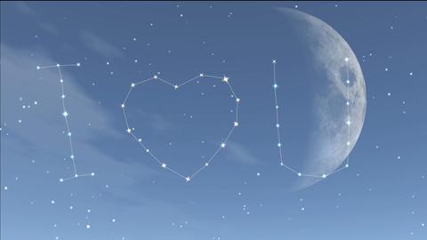 romantic night 6 Stock Video Footage