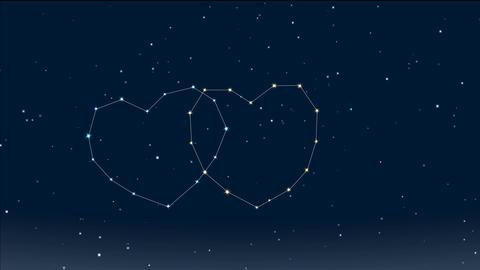 romantic night 12 Stock Video Footage