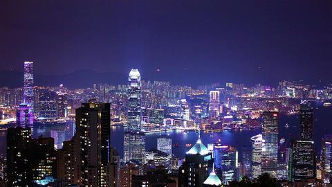Skyscrapers in HongKong. Timelapse Stock Video Footage
