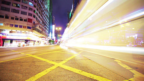 Road in Hongkong. Timelapse Stock Video Footage