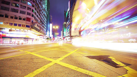 Road in Hongkong. Timelapse Footage
