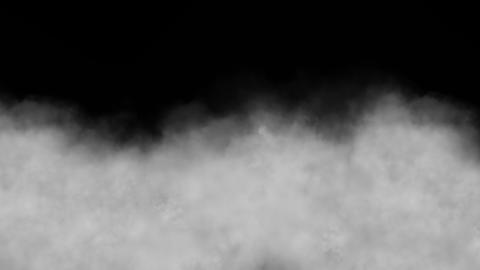 Cloud, isolated on black background, loop Stock Video Footage